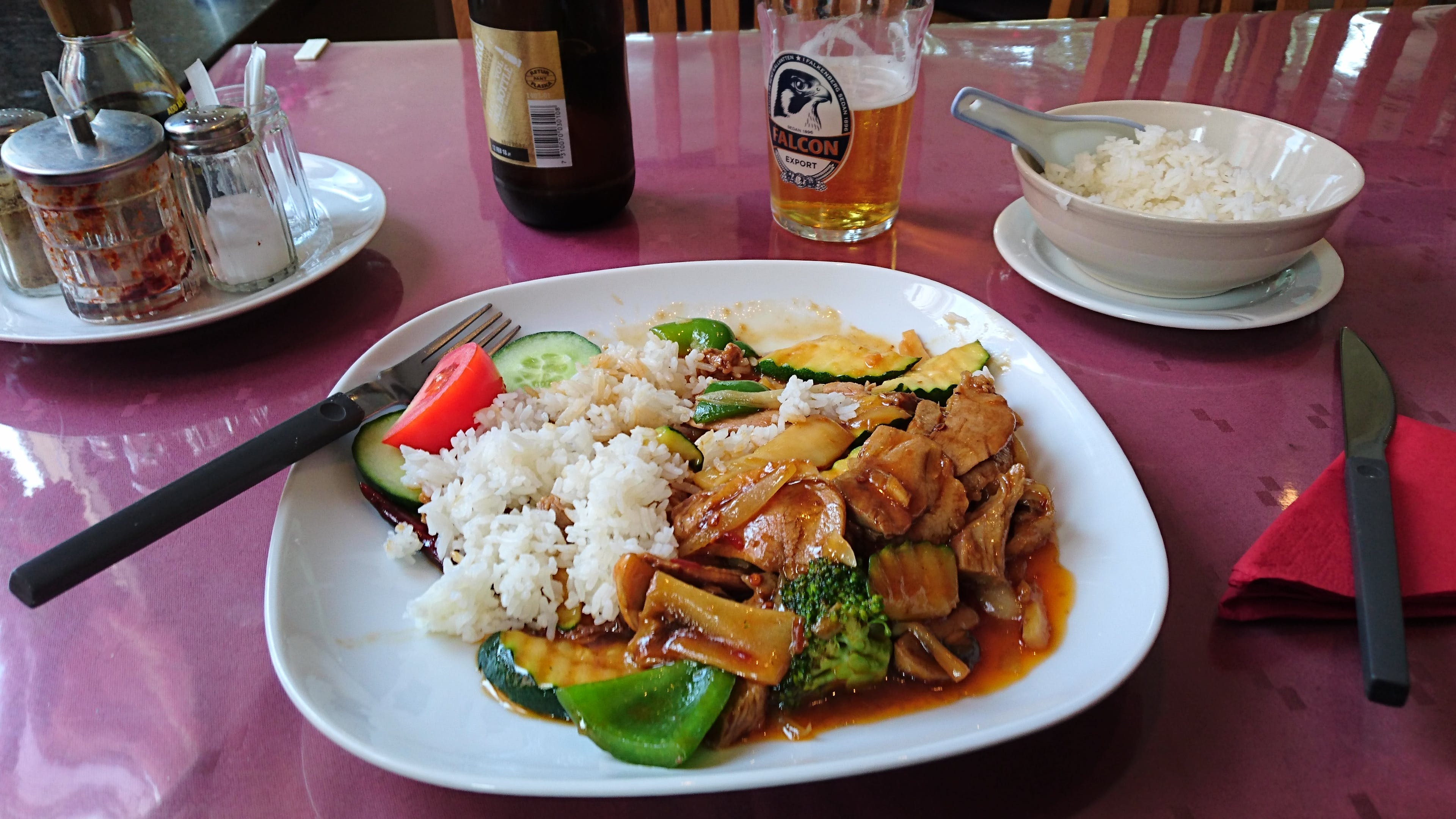 Dish With Rice on Plate