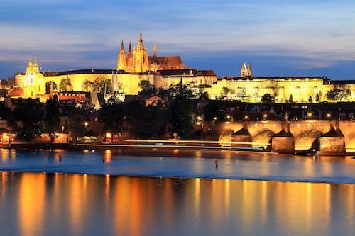 Foto stok gratis bersejarah, cahaya, Kastil, paparan panjang