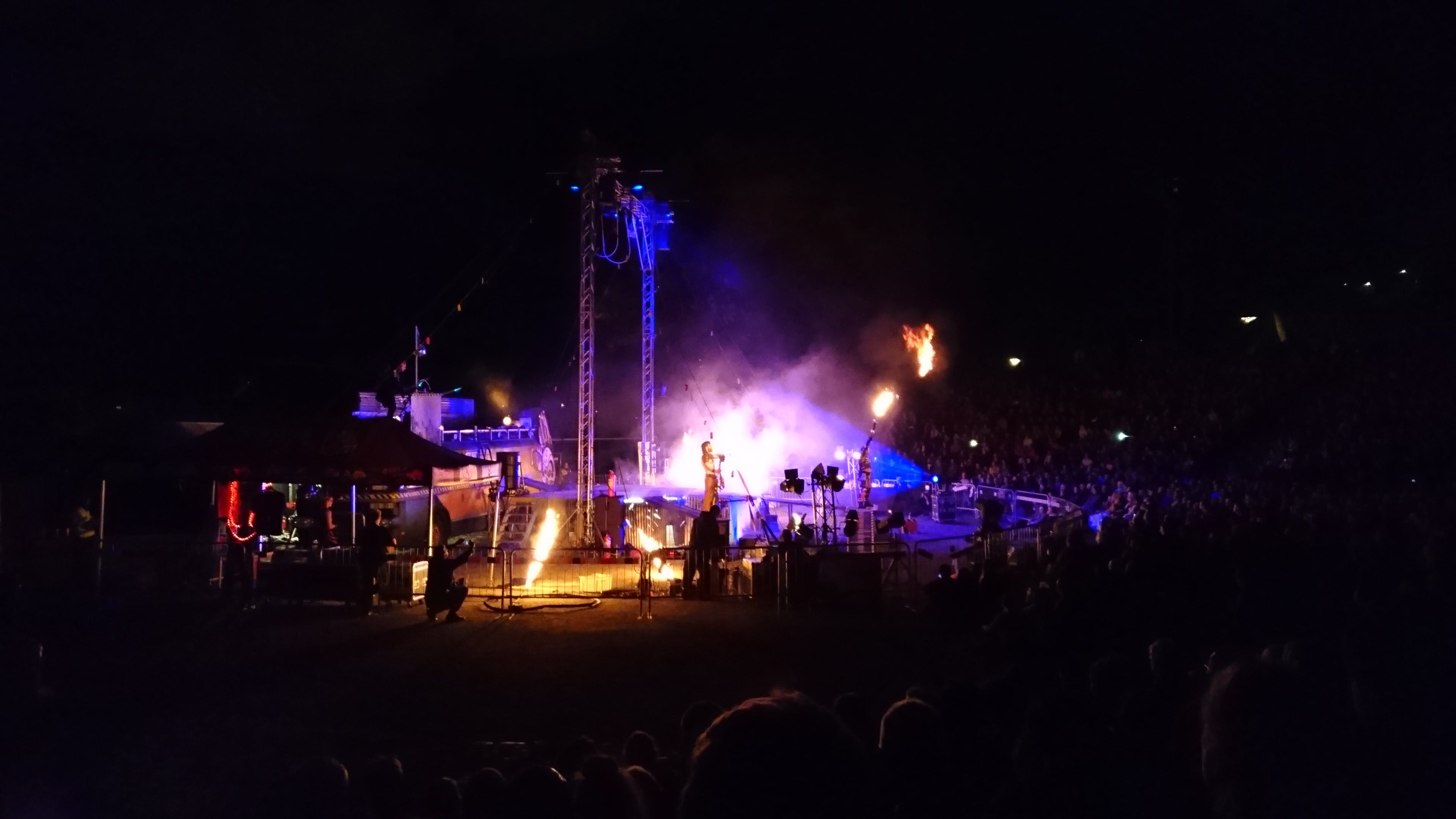 Member of Man on Stage during Nighttime