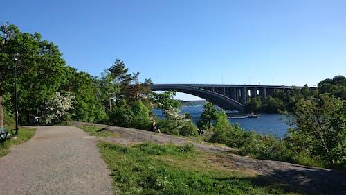 Fotobanka sbezplatnými fotkami na tému cestička, leto, modrá obloha, most
