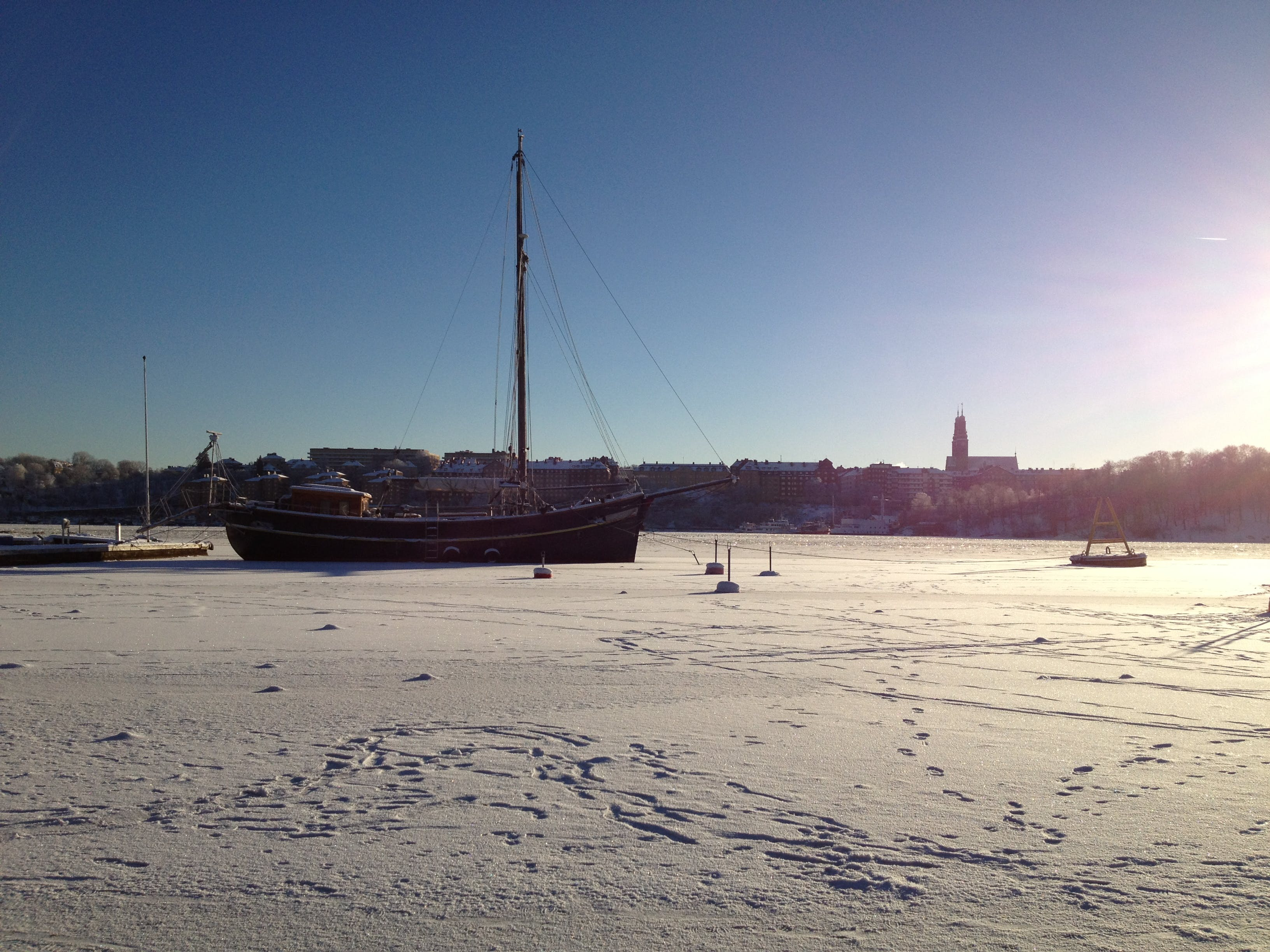Free stock photo of ice, old boat, winter