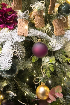 Green Christmas Tree Filled With Decors and Bauble