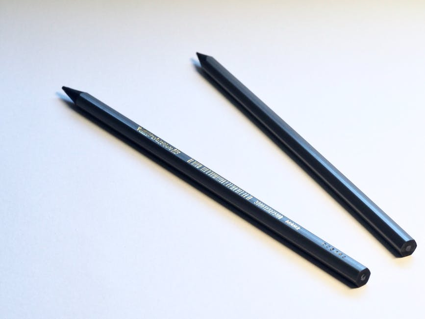 Two Black Pencils