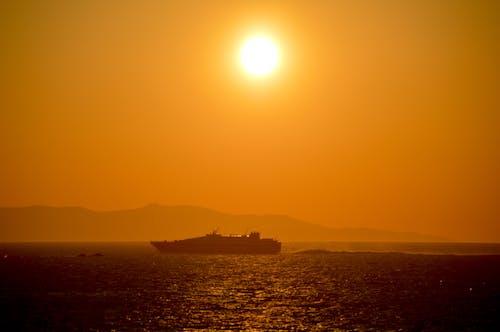 Free stock photo of aegean, sunset