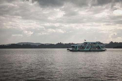 Free stock photo of boat, cloudy sky, laos, nature
