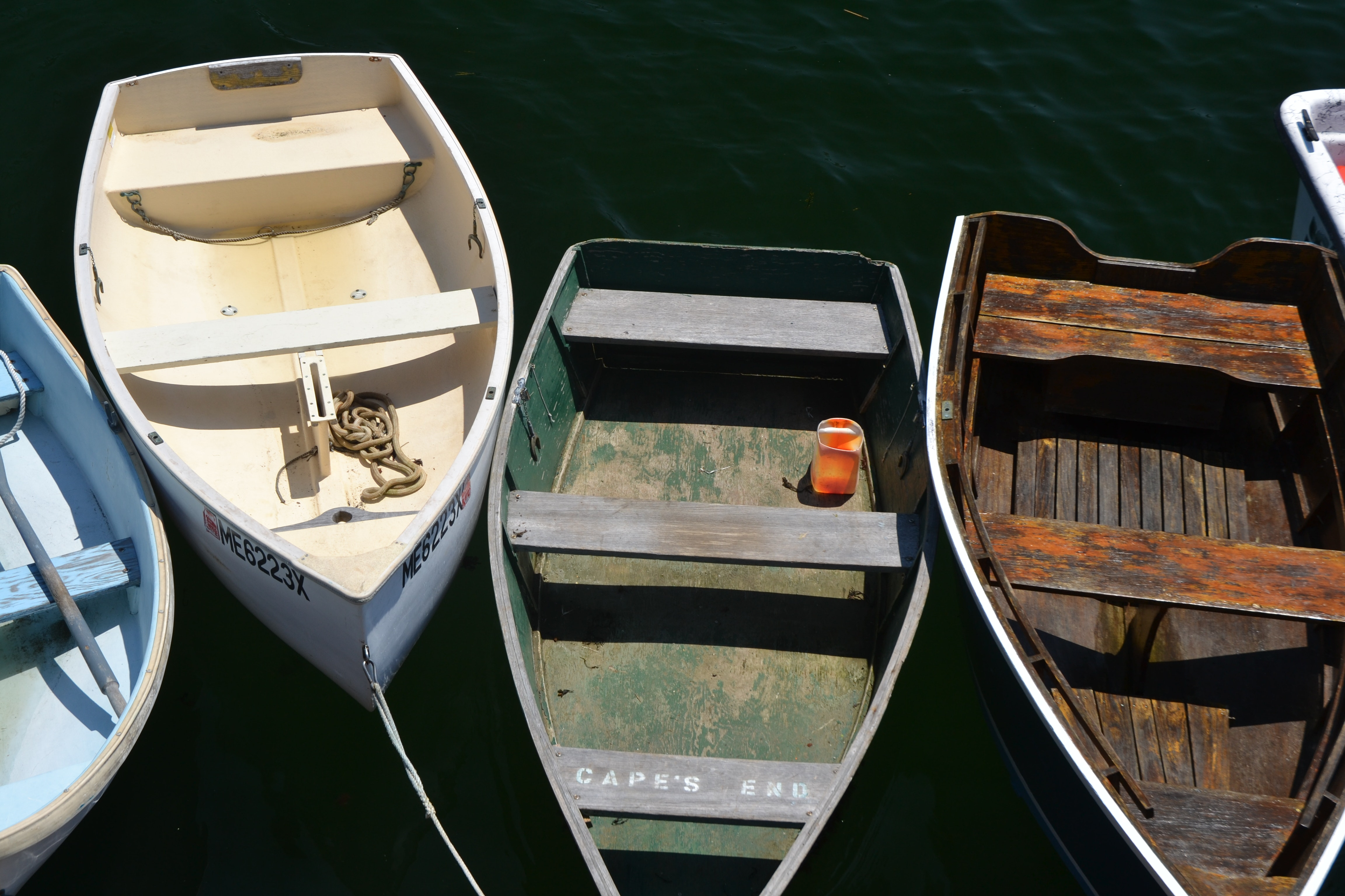 Aerial View Black Wooden Row Boat On Body Of Water  C2 B7 Free