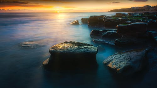 Scenic View Of Natural Landscape During Sunset