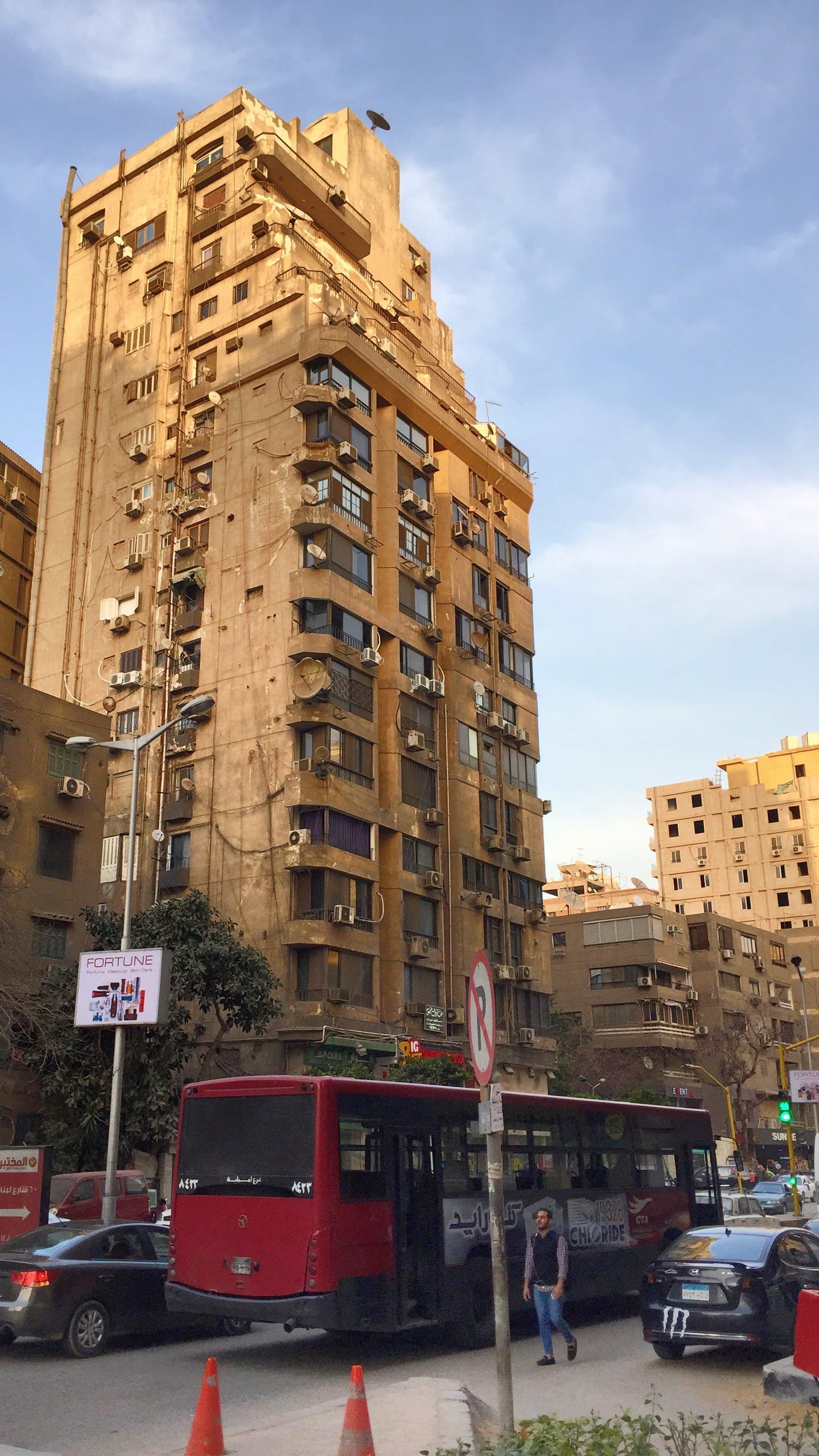 Free stock photo of bus, cairo, cars, city