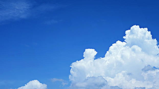 Nimbus Clouds and Blue Sky