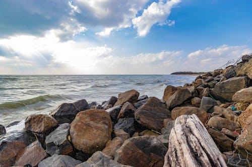 Free stock photo of beach, beach background, beach rock