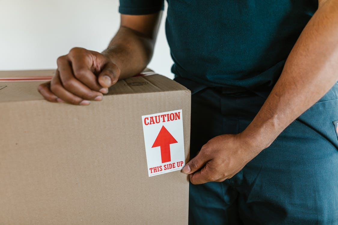 relocation supplies packed by a professional moving team