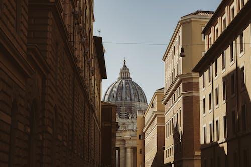 Saint Peters Cathedral between old buildings