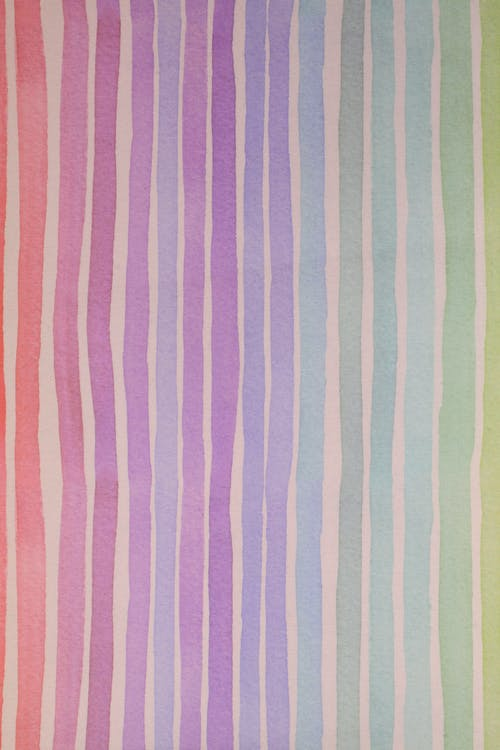 Pink and White Striped Textile