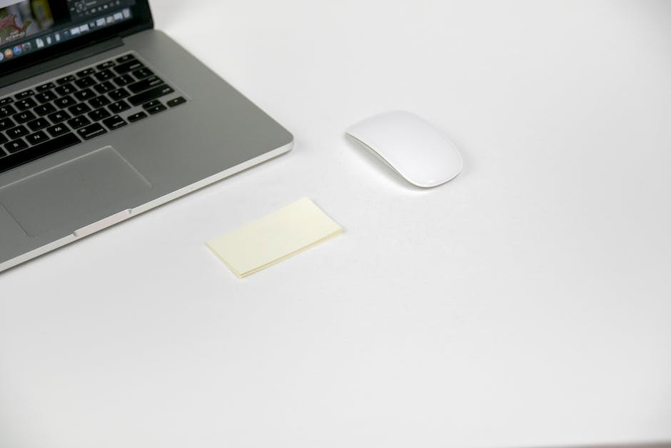 Free stock photo of business cards, computer, devices
