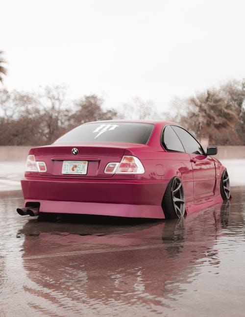 Pink Porsche 911 on Water