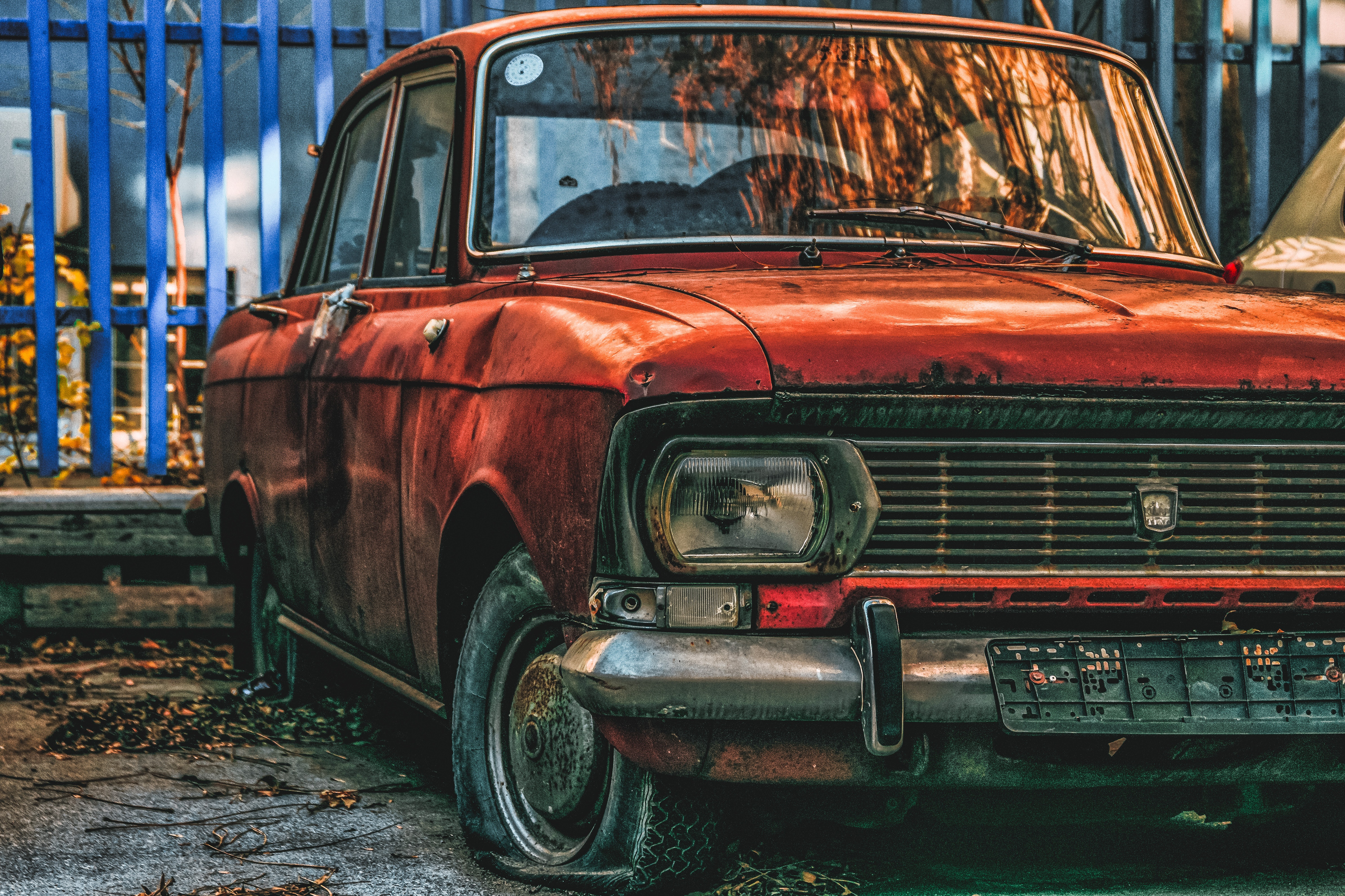 Classic Brown Vehicle Parked Beside Trees 183 Free Stock Photo