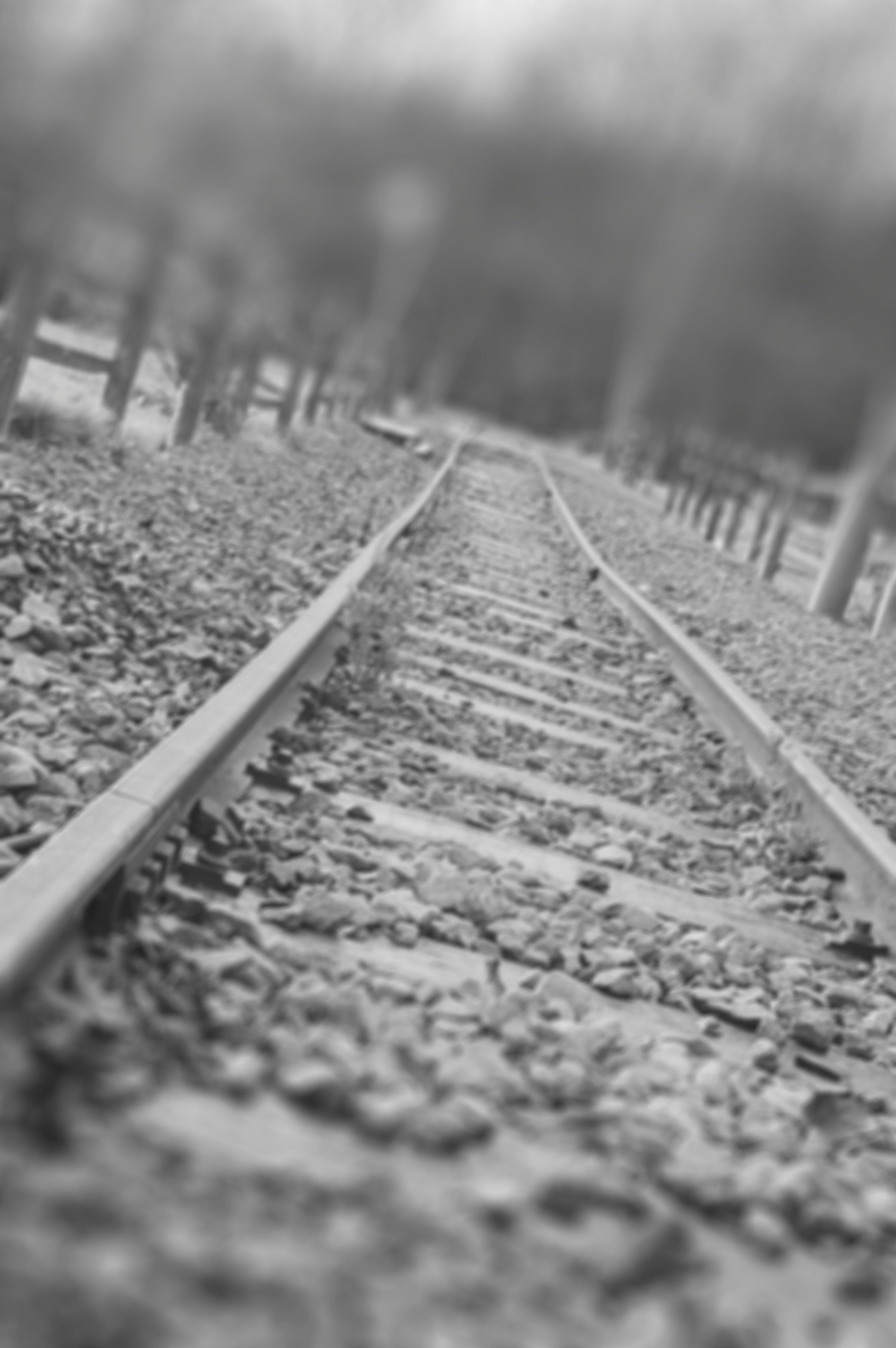Free stock photo of black and white, blur, iron, railway