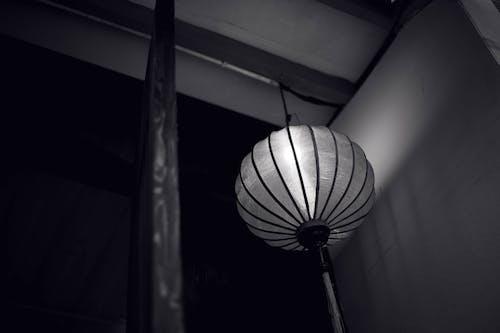 提灯, 白黒の無料の写真素材