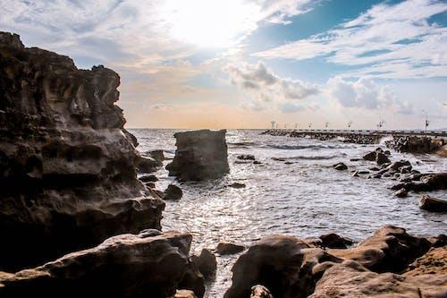 Imagine de stoc gratuită din apă, cer, coastă stâncoasă, doc