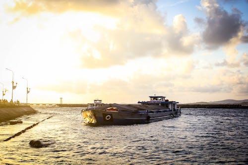 ボート, 日没の無料の写真素材