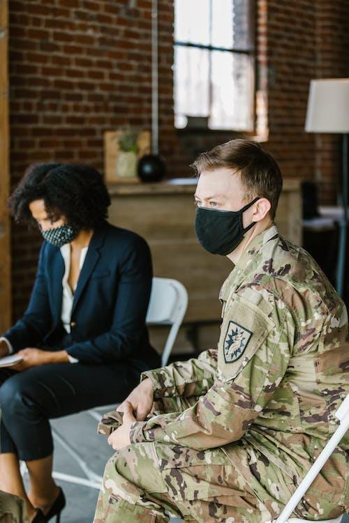 Photos gratuites de armée américaine, attentif, communication