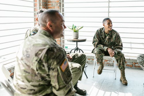 Photo of Soldiers Having a Therapy Session