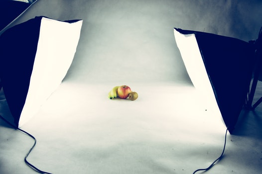 Three Fruits in Photograph Studio