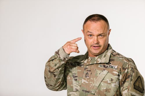 Photo of Soldier Doing Funny Face