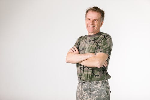 Photo of Soldier Standing with Corssed Arms