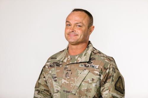 Portrait Photo of Smiling Soldier