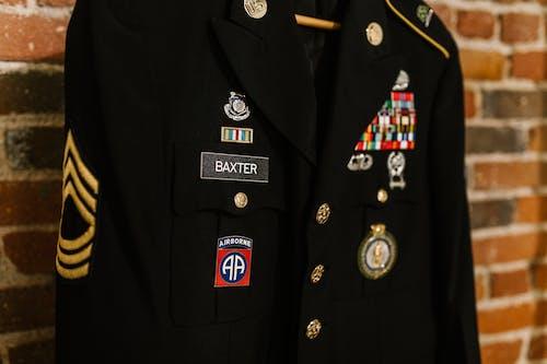 Close-Up Photo of Military Coat
