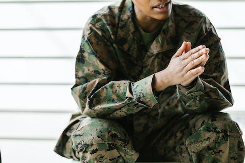 Photo of Man Wearing Militry Uniform