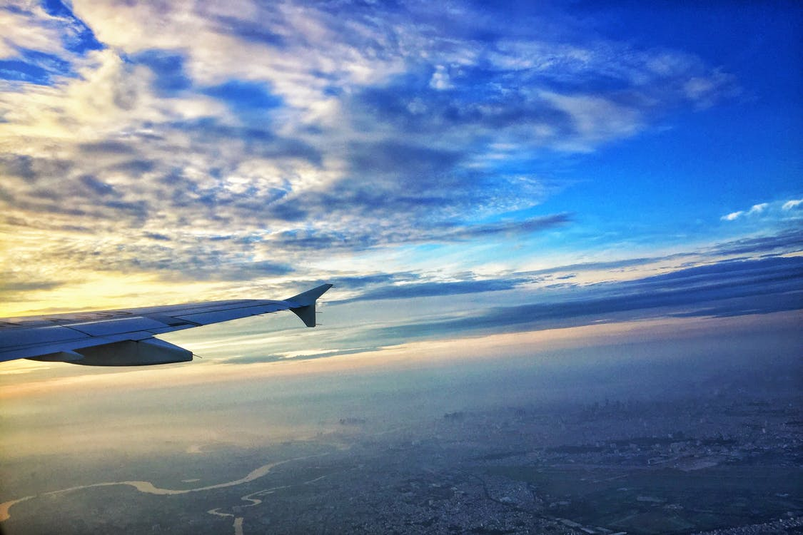 フライト, 青空