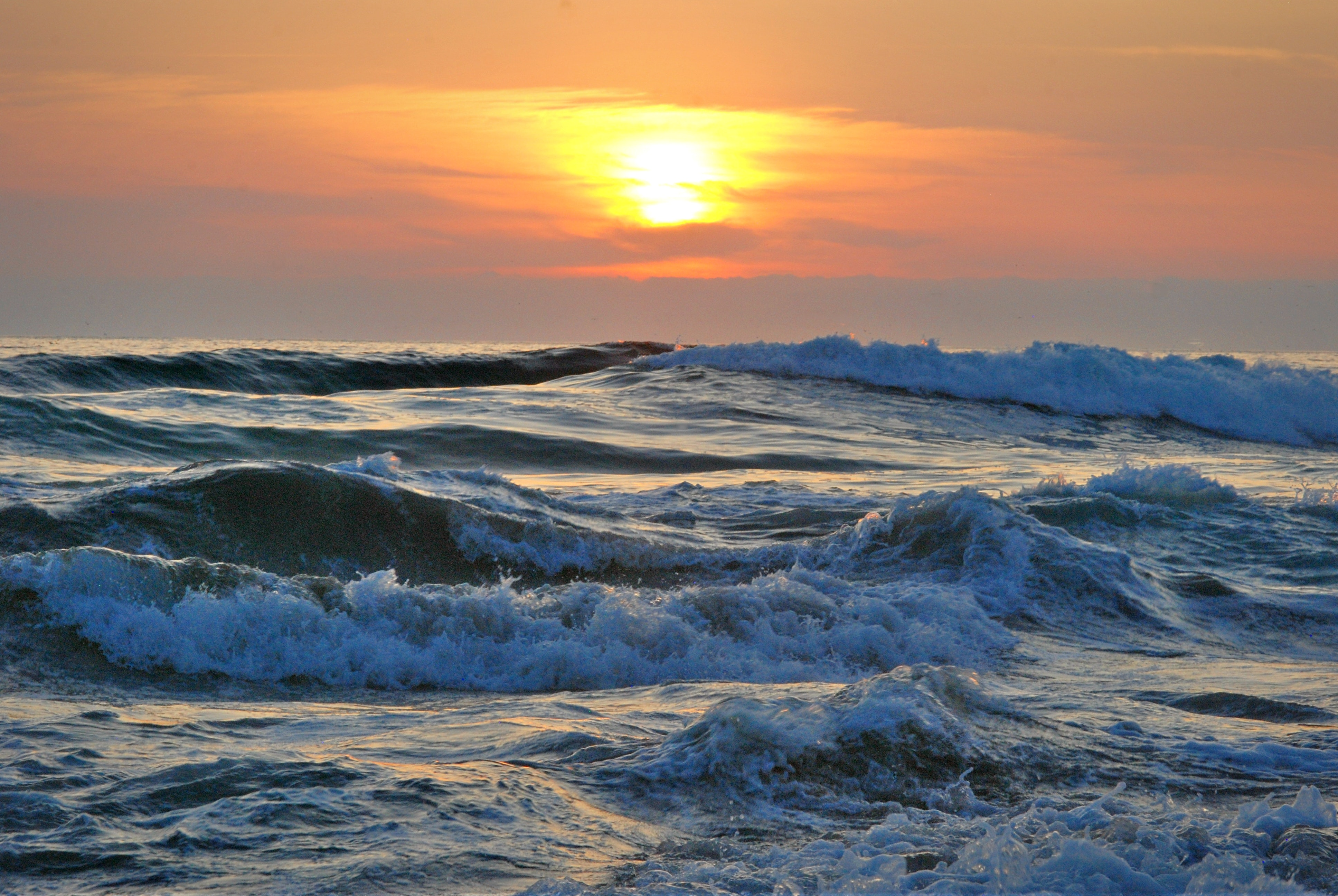 Ocean Water during Yellow Sunset · Free Stock Photo
