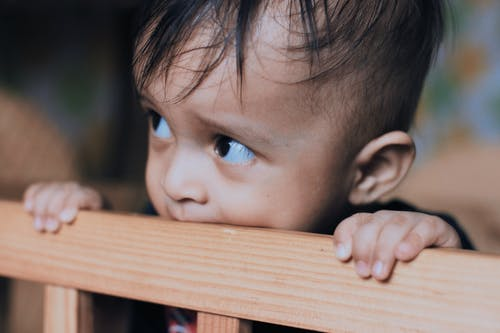 Close-Up Shot of a Cute Child