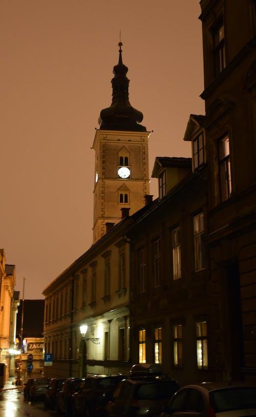 Free stock photo of Noć na gornjem gradu, zagreb