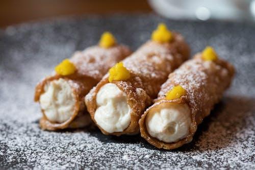 Yummy cannoli dessert on plate
