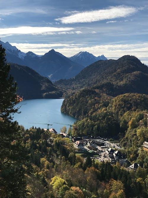 ağaçlar, ahşap, Almanya, bulutlar içeren Ücretsiz stok fotoğraf