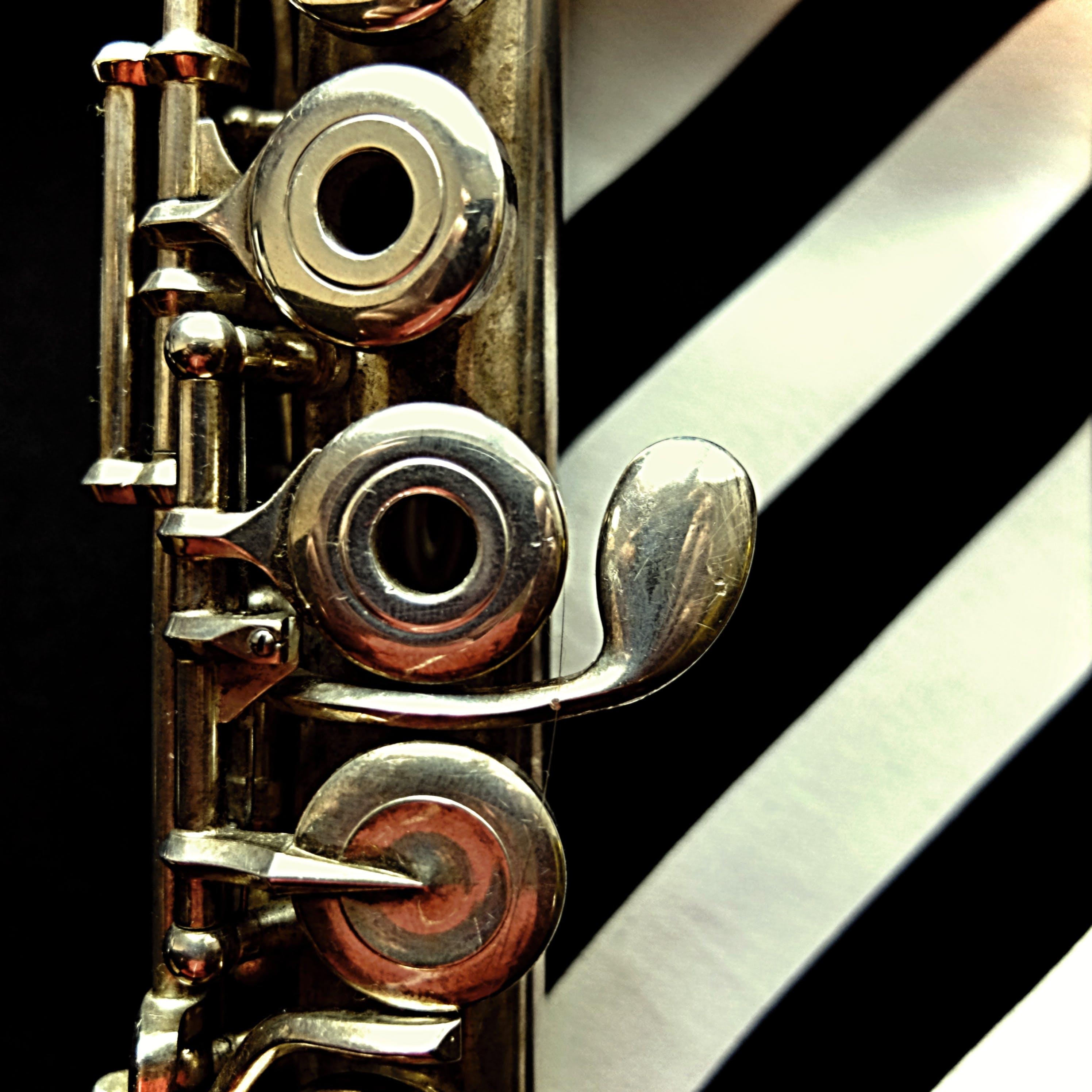 Free stock photo of metal, stripes, instrument, flute
