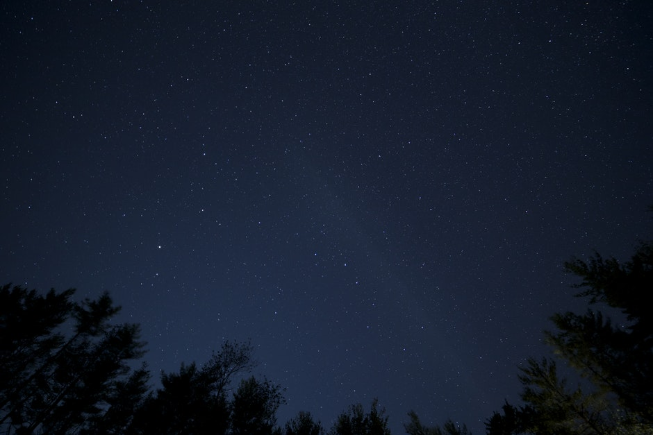 black wallpaper, night, sky