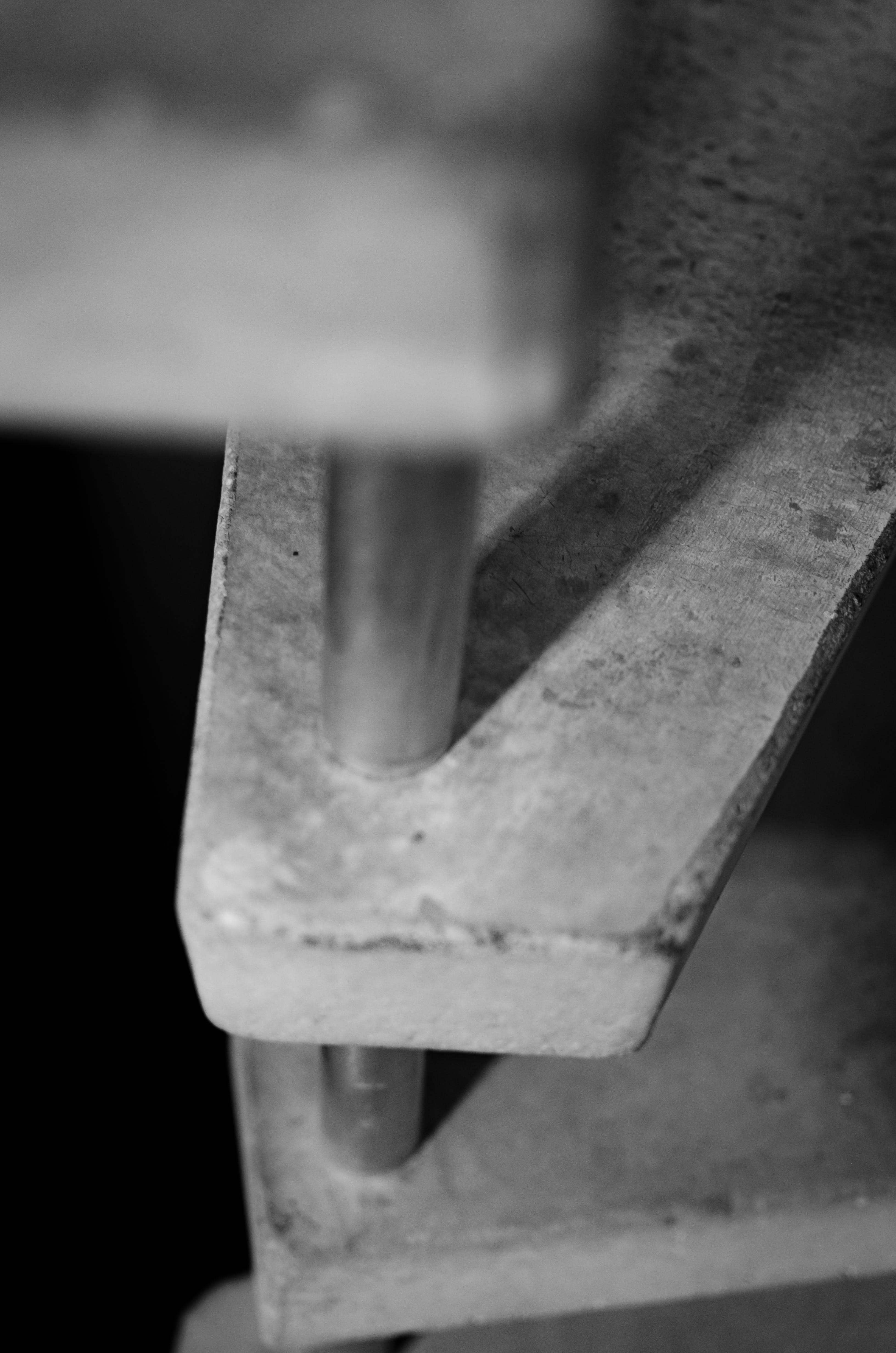 Free stock photo of bw, concrete, metal, shadow