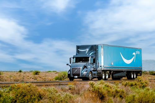 Free stock photo of amazon, amazon truck, logistic
