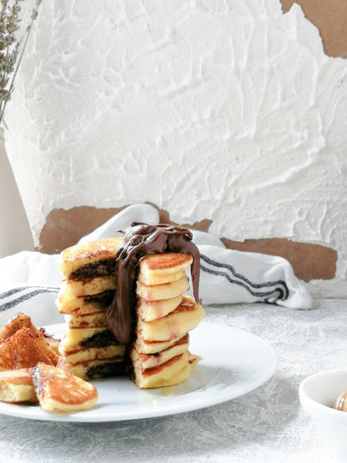 Pancakes with Chocolate on Top