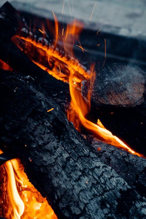 Close Up Shot of a Fire