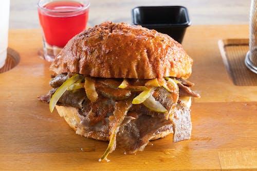 Close Up Shot of a Burger