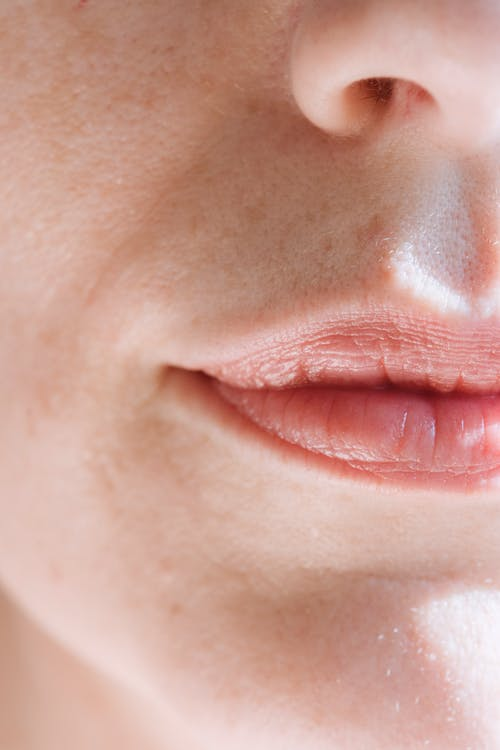 Persons Lips and Nose