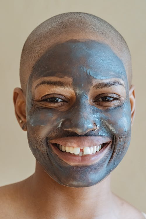 Man With Blue Face Paint