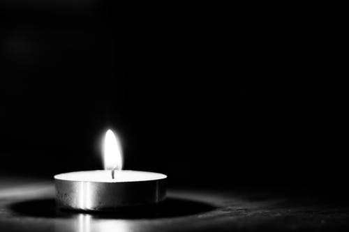Free stock photo of black and white, bnw, burning, candle
