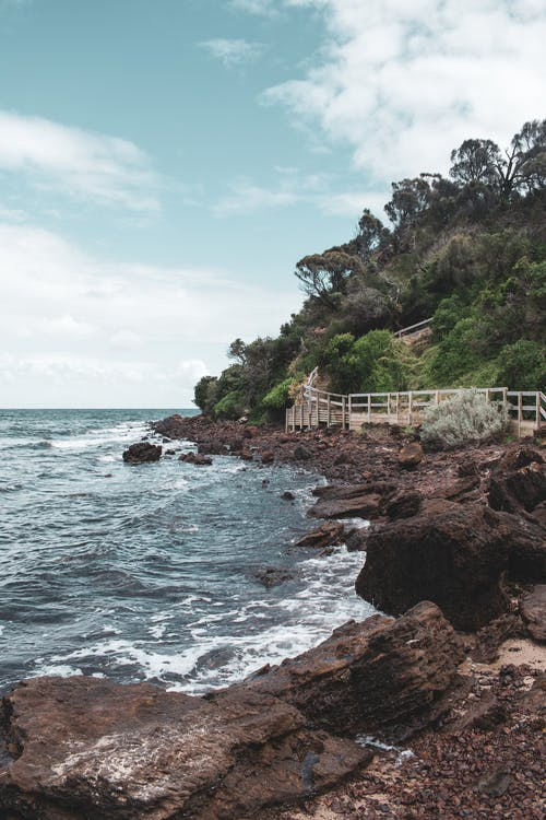 Fotos de stock gratuitas de acantilado, agua, al aire libre