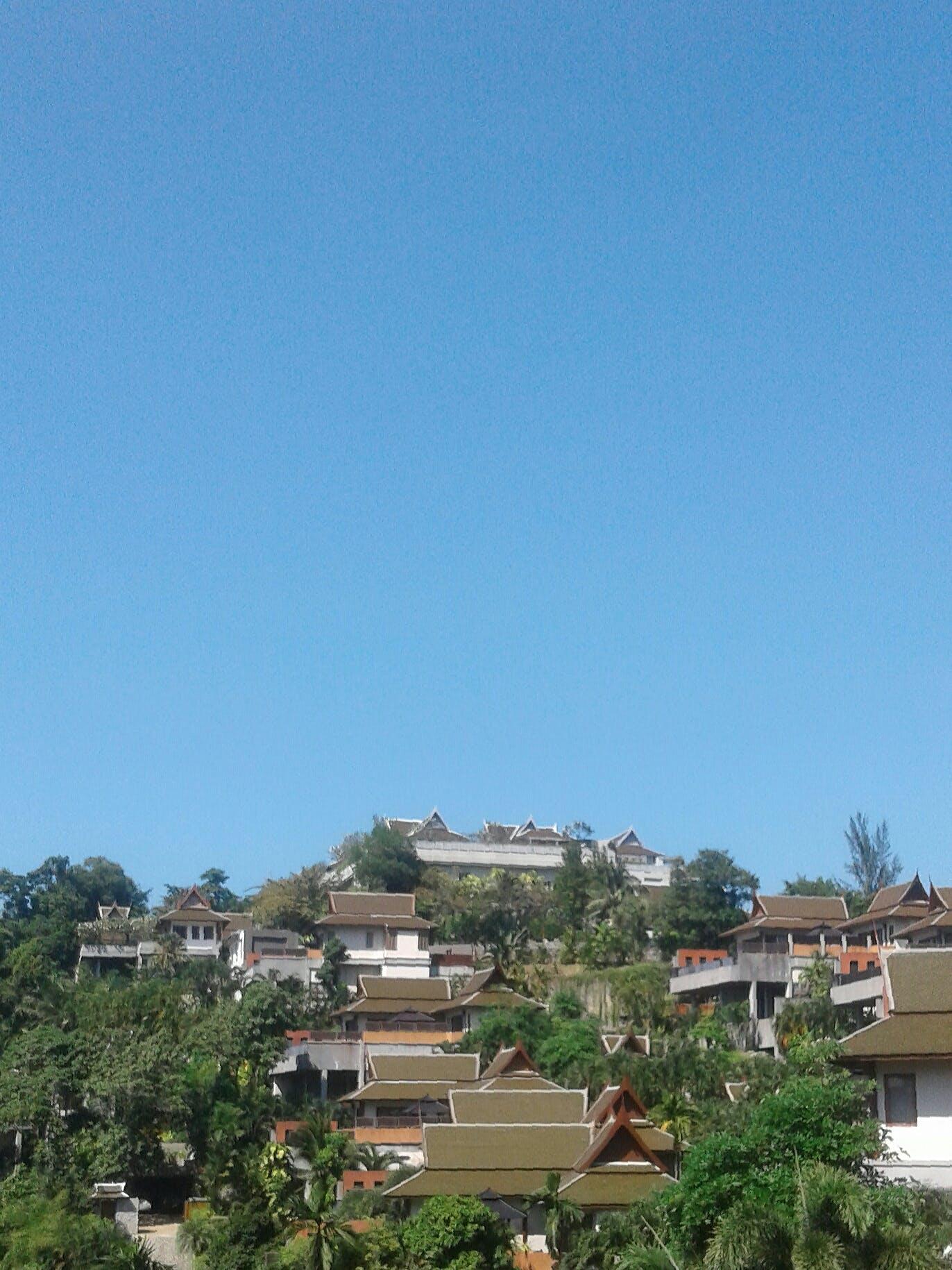 Free stock photo of blue sky, houses, Kamala beach, phuket